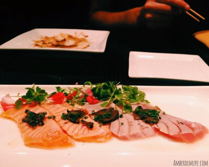 Happier hour soto japanese restaurant amber demure for Amber asian cuisine